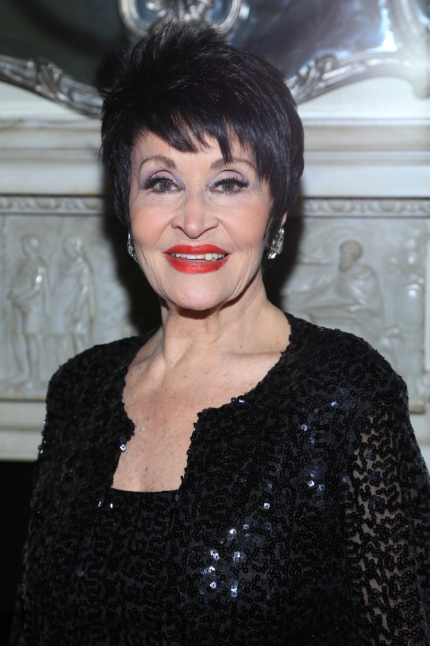 Chita Rivera on opening night of her new show at Café Carlyle.