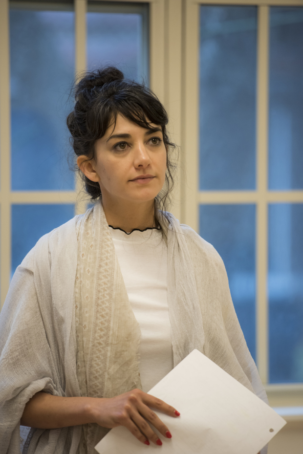 Sheila Vand in rehearsal for Hamlet.