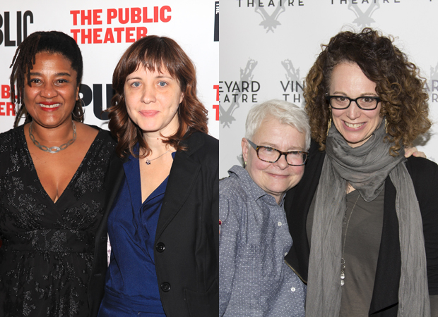 Pulitzer Prize-winning playwrights Lynn Nottage and Paula Vogel with their directors and collaborators Kate Whoriskey and Rebecca Taichman.