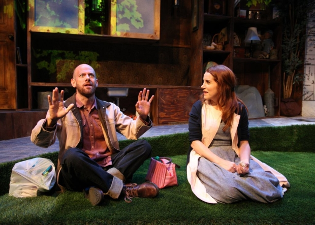 James McHale and Lola Kelly in Will Eno's Middletown, directed by Trevor Biship, at Chance Theater.