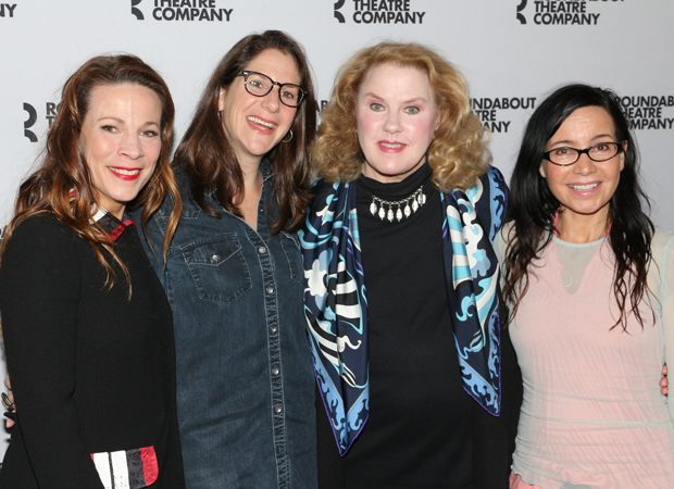 Lili Taylor, Anne Kauffman, Celia Weston, and Janeane Garofalo pose for a photo.