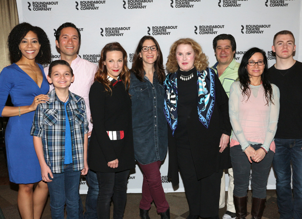 Marvin's Room director Anne Kauffman (center) poses alongside her cast.