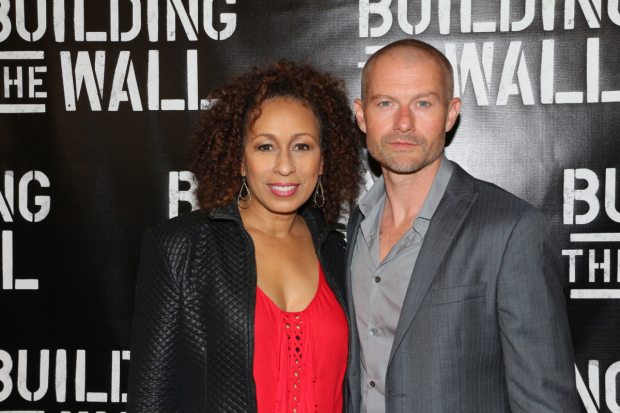 Tamara Tunie and James Badge Dale costar in Robert Schenkkan's new play, Building the Wall, at New World Stages.