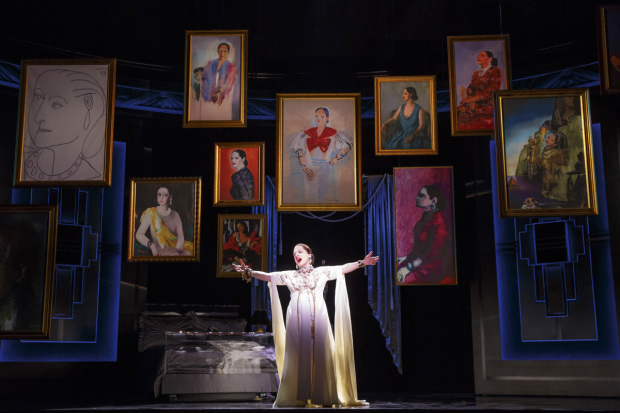 Patti LuPone as Helena Rubenstein in War Paint at the Nederlander Theatre.