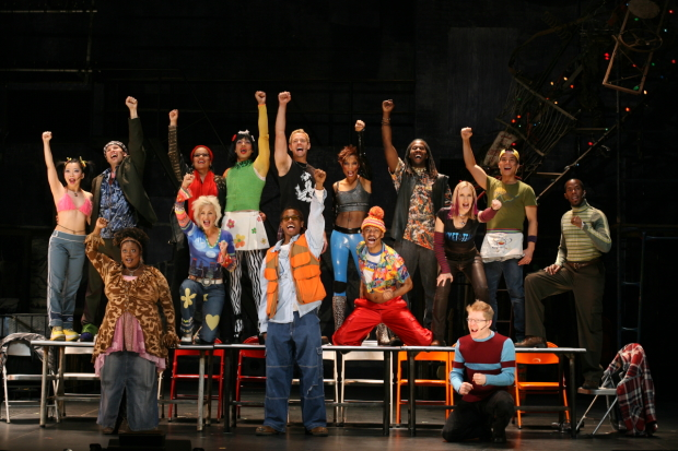 A scene from the Broadway production of Rent.