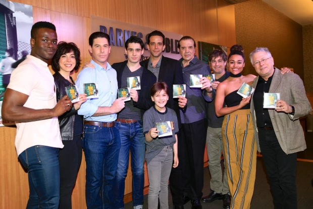 Members of the A Bronx Tale company celebrated the release of the original cast album at Barnes & Noble.
