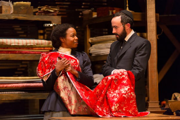 Quincy Tyler Bernstine and Tasso Feldman star in Intimate Apparel, directed by Jade King Carrol.