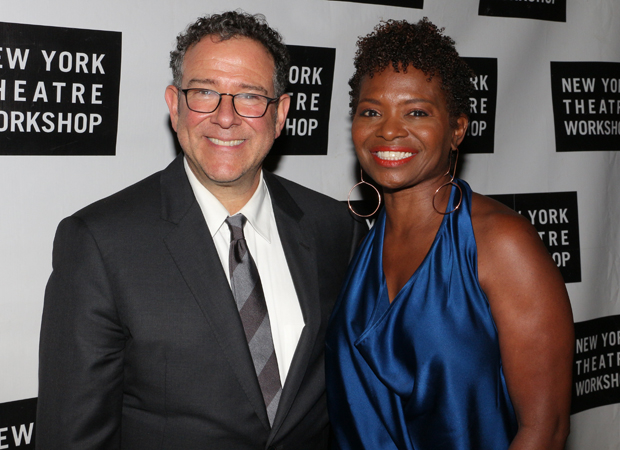 Honoree Michael Greif with LaChanze, who starred in his production of If/Then.