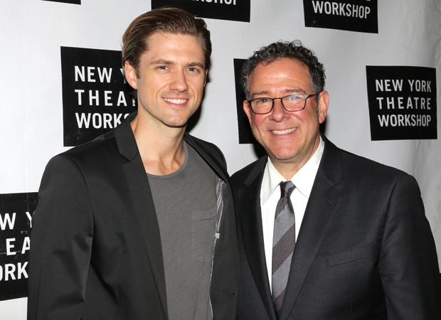 Aaron Tveit, who starred in Next to Normal, with director Michael Greif.