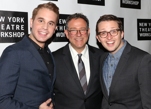 Michael Greif with his Dear Evan Hansen stars, Ben Platt and Will Roland.