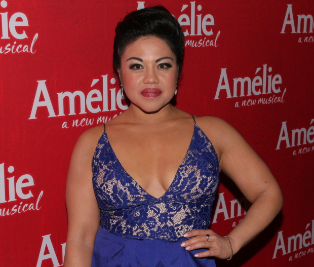 Maria-Christina Oliveras plays Gina in the Broadway musical Amélie at the Walter Kerr Theatre.