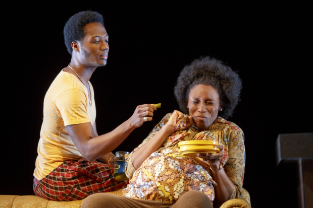 Hubert Point-Du Jour and Chinasa Ogbuagu star in Mfoniso Udofia's Sojourners, directed by Ed Sylvanus Iskandar, at New York Theatre Workshop.