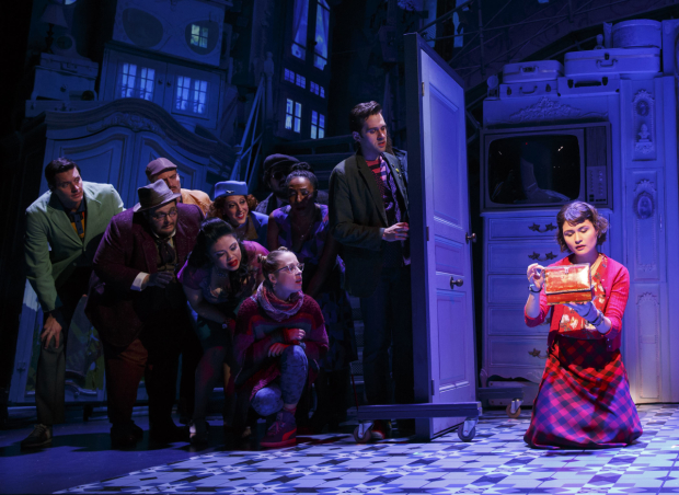 The ensemble of Amélie at the Walter Kerr Theatre.