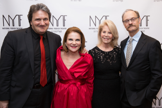 James Bassi, Tovah Feldshuh, Daryl Roth, David Hyde Pierce celebrated Mother's Day together at Our Leading Ladies.