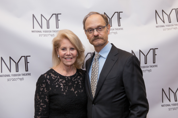 Daryl Roth poses for a photo with David Hyde Pierce.