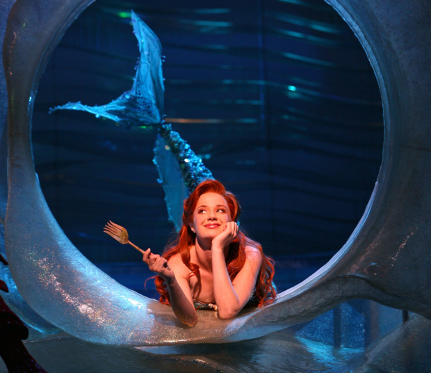 Sierra Boggess as Ariel in the 2008 Broadway production of The Little Mermaid.