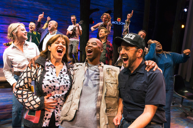 A scene from Come From Away on Broadway.