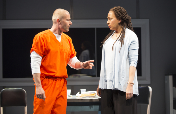 James Badge Dale and Tamara Tunie star in Building the wall, directed by Ari Edelstein, at New World Stages.