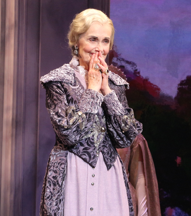 Mary Beth Peil takes her bow as Anastasia opens.