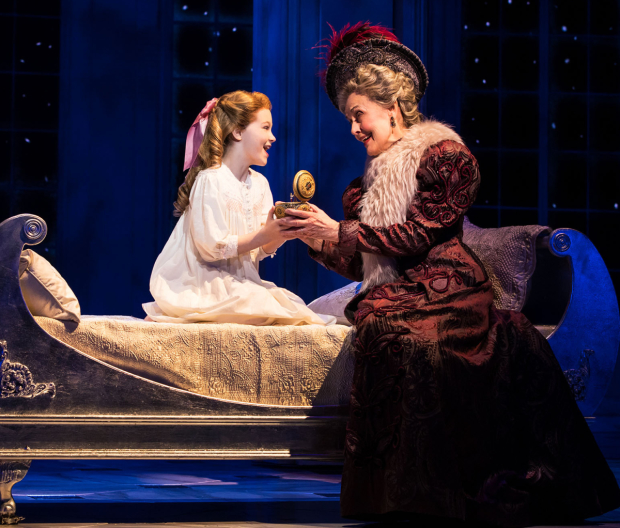 Mary Beth Peil in her Tony-nominated performance as the Dowager Empress in Anastasia.