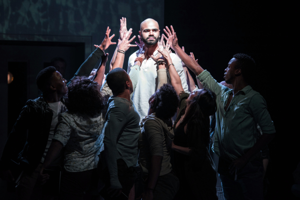 Nicholas Edwards stars in Jesus Christ Superstar, directed by Joe Calarco, at Signature Theatre.