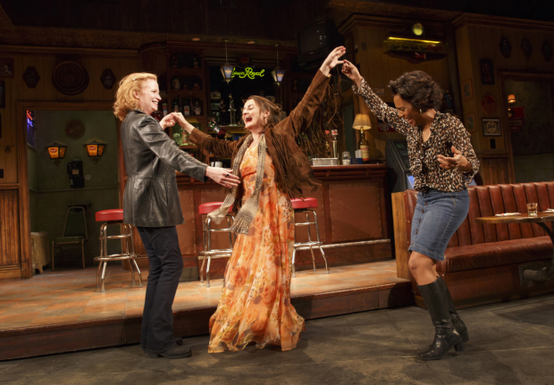 Michelle Wilson (right) with her costars Johanna Day Alison Wright in Broadway's Sweat.