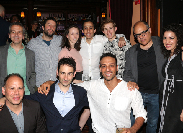 The Band's Visit team celebrates their New York Drama Critics Circle Award win.