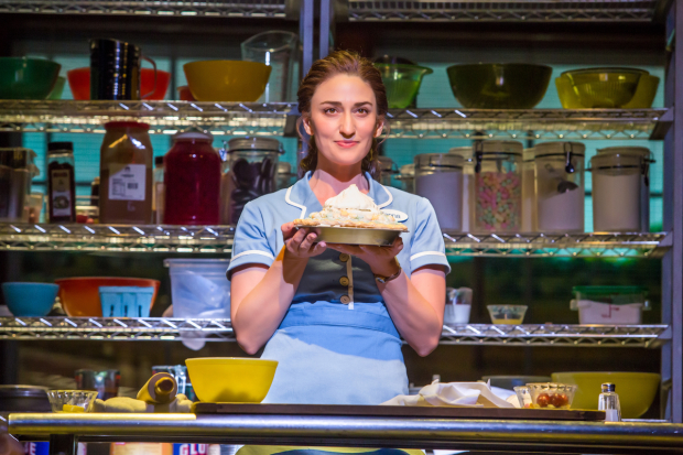 Sara Bareilles stars in Waitress, directed by Diane Paulus, at Broadway's Brooks Atkinson Theatre.