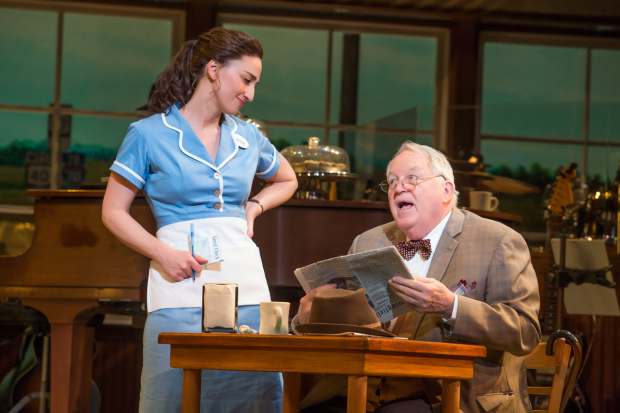 Sara Bareilles plays Jenna, and Dakin Matthews plays Joe in Waitress on Broadway''.