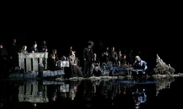 A scene from Salvage, part three of Tom Stoppard's trilogy, The Coast of Utopia, at Lincoln Center Theater's Vivian Beaumont Theater.