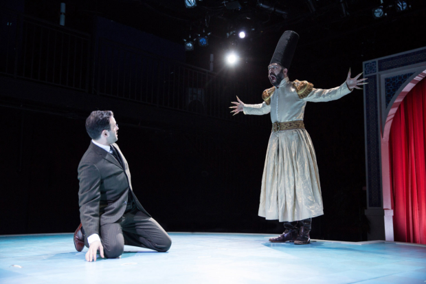 Arian Moayed and Barzin Akhavan star in Waterwell's Hamlet, directed by Tom Ridgely, at Sheen Center.