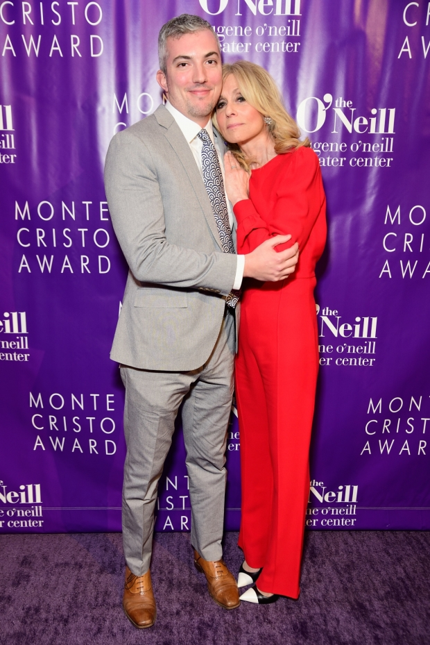 Eugene O'Neill Theater Center executive director Preston Whiteway stops for a photo with honoree Judith Light.