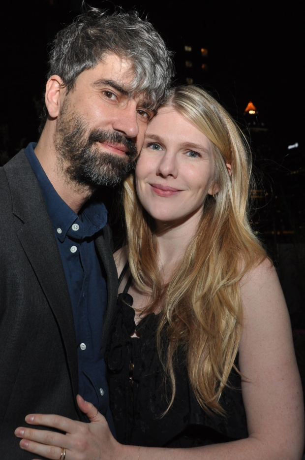 Playwright Hamish Linklater poses for a photo with frequent collaborator Lily Rabe.