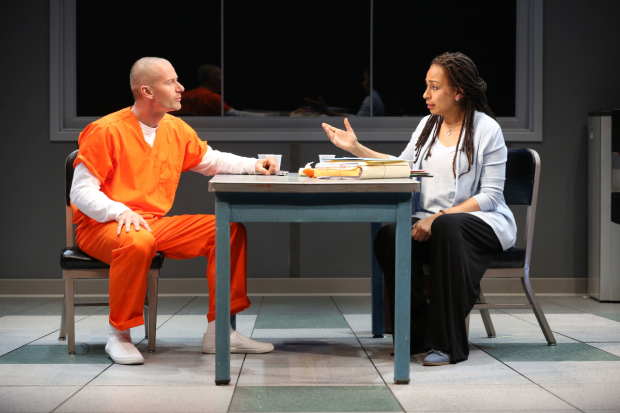James Badge Dale and Tamara Tunie in a scene from Building the Wall.