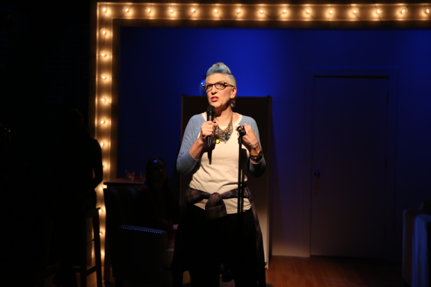 Lisa Lampanelli in her play Stuffed at WP Theater.