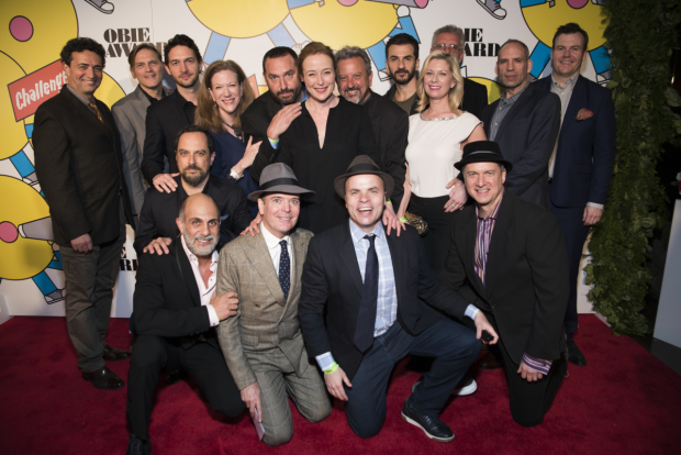 The cast of Oslo took home an Ensemble award at the 62nd Annual Obie Awards.