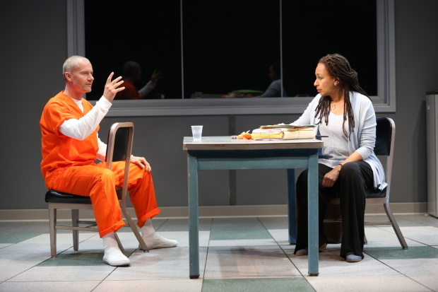 James Badge Dale and Tamara Tunie star in Robert Schenkkan's Building the Wall, directed by Ari Edelson, at New World Stages.