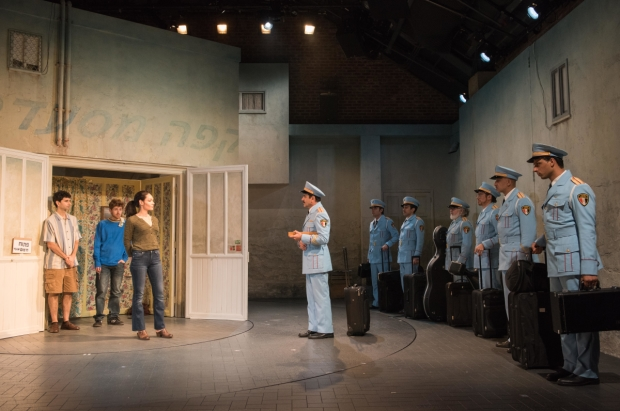 A scene from the Atlantic Theater world premiere of The Band's Visit, coming to Broadway this fall.