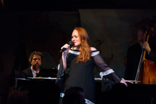 Pianist Spike Wilner and Antonia Bennett perform at the Café Carlyle.
