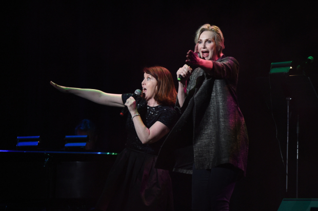 Kate Flannery and Jane Lynch entertained the crowd.