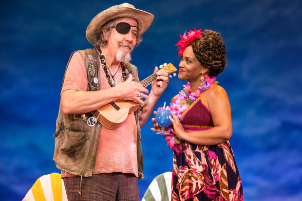 Don Sparks as J.D. and Rema Webb as Marley in Escape to Margaritaville.