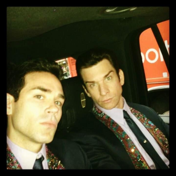 Andy Karl heading to Wheel of Fortune taping with Jersey Boys costar Dominic Scaglione, Jr.