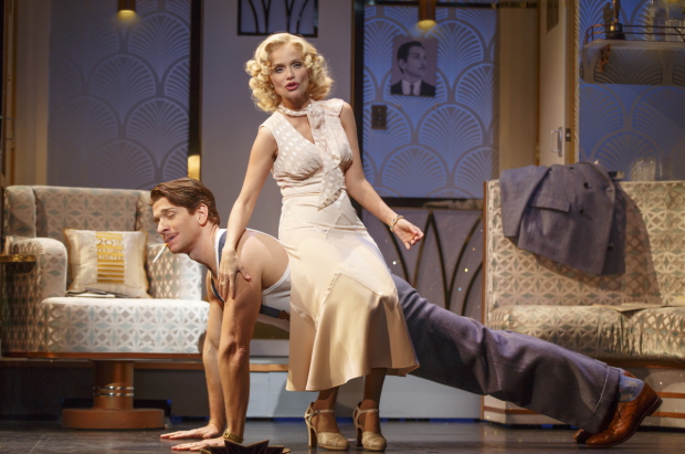 Andy Karl shares a scene with Kristin Chenoweth in On the 20th Century.