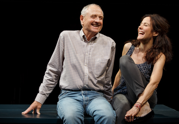 Denis Arndt with his costar Mary-Louise Parker in a scene from Simon Stephens' Heisenberg.