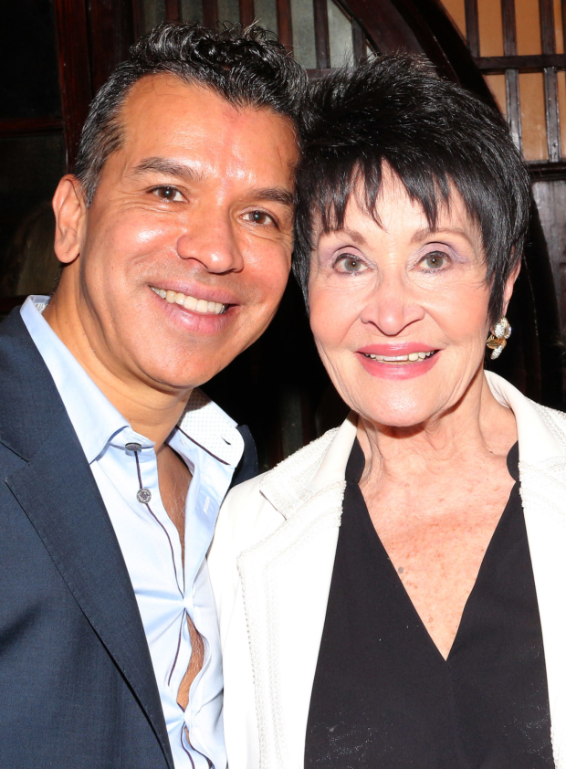 Sergio Trujillo takes a photo with Chita Rivera, the award's new namesake.