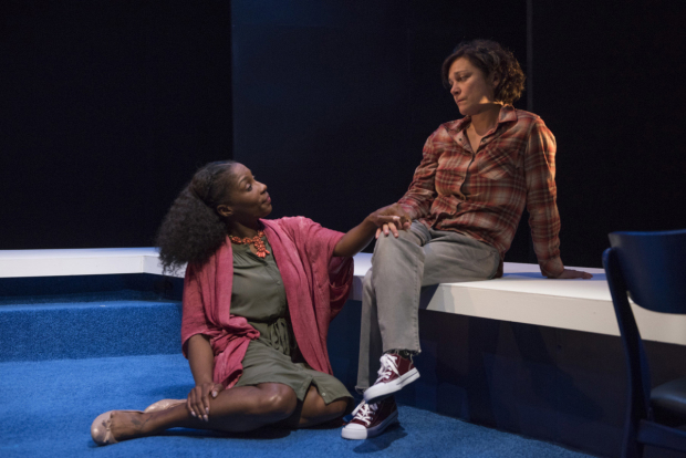 Patrese McClain and Elizabeth Ledo star in Bright Half Life, directed by Keria Fromm, at About Face Theatre.