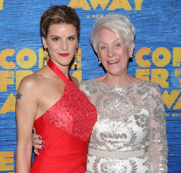 Jenn Colella and Captain Beverley Bass, who she plays in Come From Away.