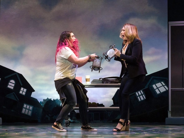 Emma Hunton (left) and Heidi Blickenstaff in Disney's Freaky Friday, directed by Christopher Ashley, with book by Bridget Carpenter, music by Tom Kitt, and lyrics by Brian Yorkey.