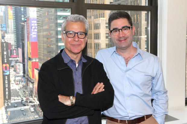 Director and writer of the 2017 Drama Desk Awards, Mark Waldrop and Jonathan Tolins.