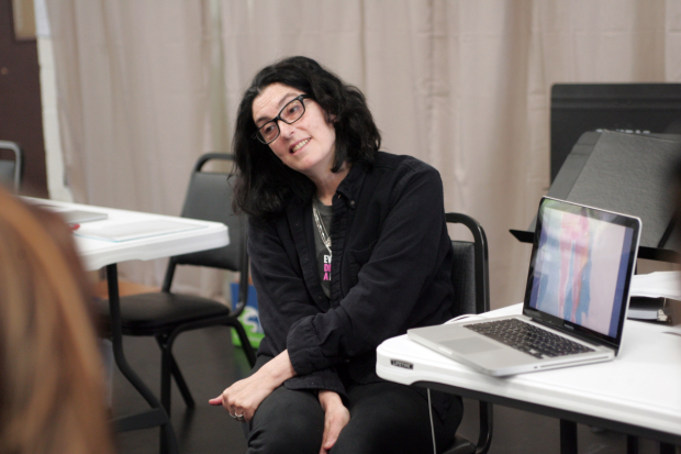 Director Tina Landau in rehearsal for Deathless.
